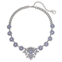 Simply Vera Vera Wang Faceted Stone Floral Statement Necklace