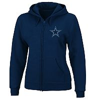 Plus Size Majestic Dallas Cowboys Zip-Up Hoodie
