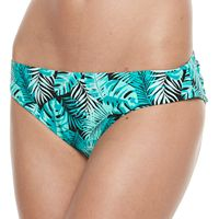 Women's Breaking Waves Printed Hipster Bikini Bottoms