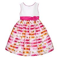 Girls 7-16 American Princess Floral Burnout Stripe Skirt Dress