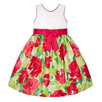Girls 7-16 American Princess Bow Front Floral Skirt Dress