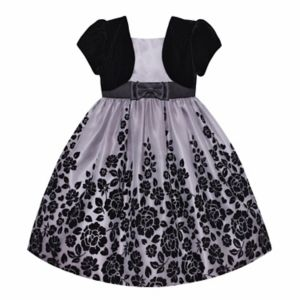 Girls Plus Size American Princess Mock Bolero Floral Dress