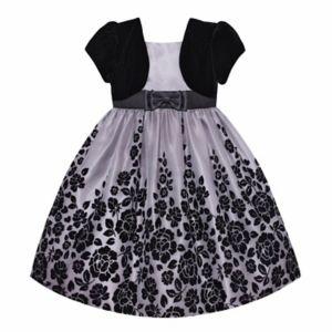 Girls Plus Size American Princess Mock Bolero Floral Dress
