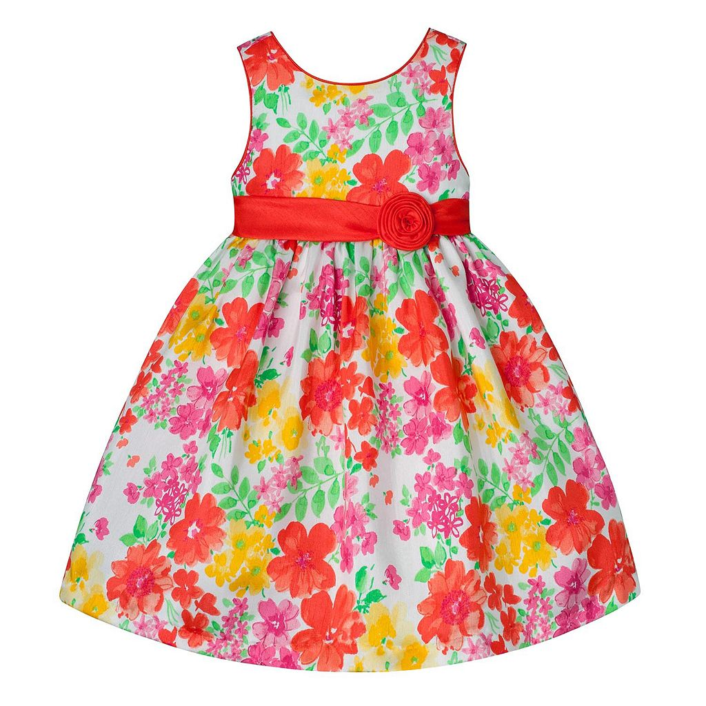 Girls 7-16 American Princess Coral Floral Dress