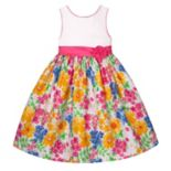Girls 7-16 American Princess Multicolor Floral Skirt Dress