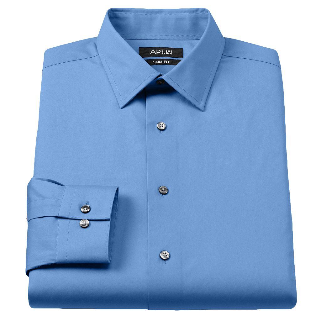 Men's Apt. 9® Slim-Fit Stretch Spread-Collar Dress Shirt