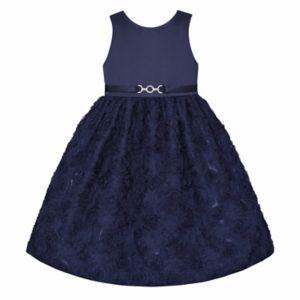 Girls Plus Size American Princess Floral Soutache Dress
