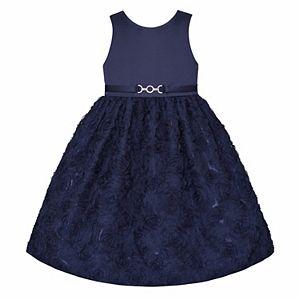Girls 7-16 Size American Princess Floral Soutache Dress