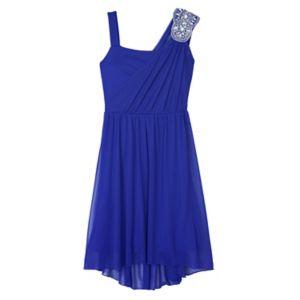 Girls Plus Size IZ Amy Byer Sequin Asymmetrical Dress