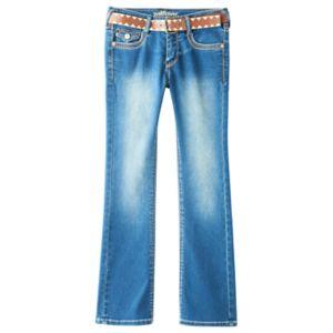 Girls Plus Size Wallflower Embellished Bootcut Jeans