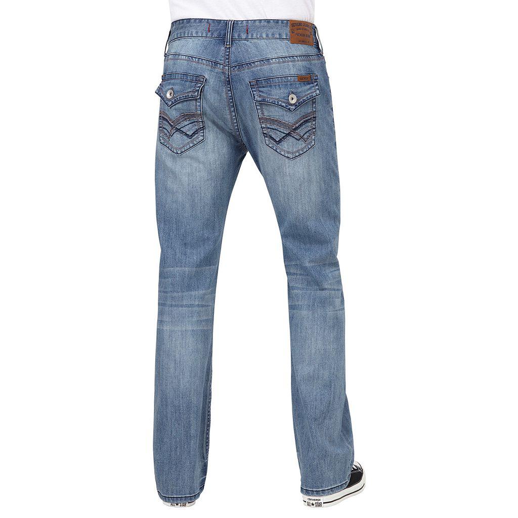 Men's Seven7 Parrot Slim-Fit Bootcut Jeans