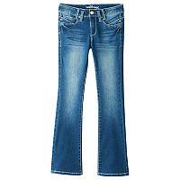 Girls 7-16 Wallflower Back-Flap Bootcut Jeans