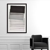 Artissimo Designs Shades of Gray Canvas Wall Art