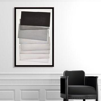 Artissimo Designs Shades of Gray Canvas Wall Art