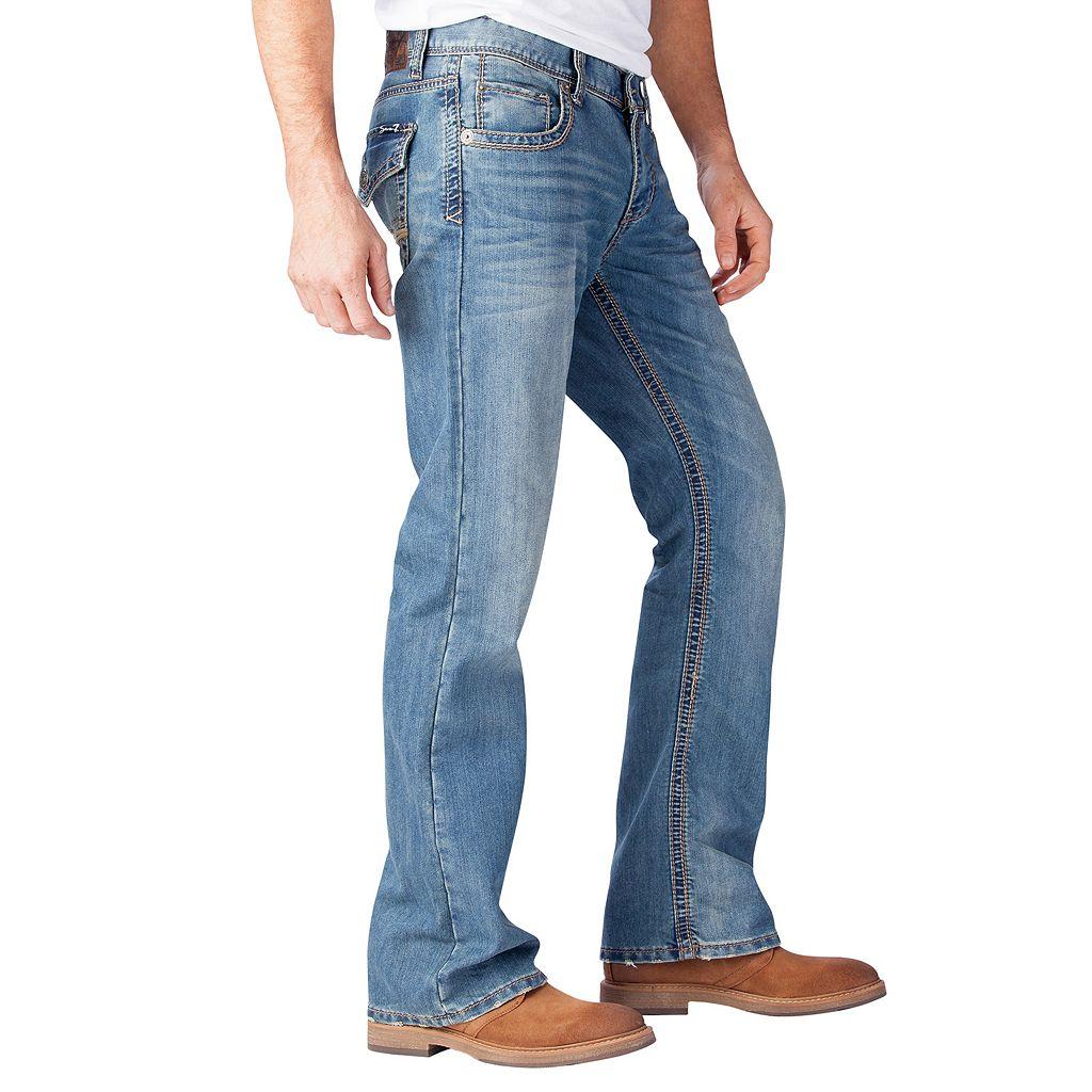 Men's Seven7 Thick-Stitch Bootcut Jeans