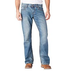 Men's Seven7 Thick-Stitch Bootcut Jeans