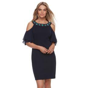 Petite Chaya Sheath Cold-Shoulder Dress