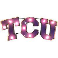TCU Horned Frogs Light-Up Wall Décor