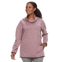 Plus Size Tek Gear® Fleece Funnel Neck Pullover Top