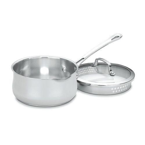 Cuisinart Contour 2-qt. Stainless Steel Pour Saucepan