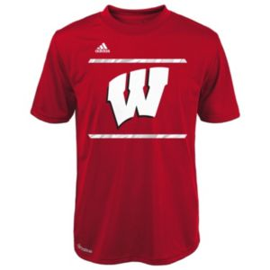 Boys 4-7 adidas Wisconsin Badgers Sideline Energized Climalite Tee