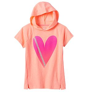 Girls Plus Size SO® Short Sleeve Active Hoodie