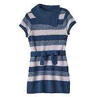 Girls 7-16 It's Our Time Splitneck Striped Sweater Tunic