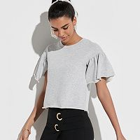 k/lab Ruffle Sleeve Sweatshirt