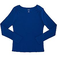 Girls Plus Size French Toast Ribbed Crewneck Long Sleeve Tee