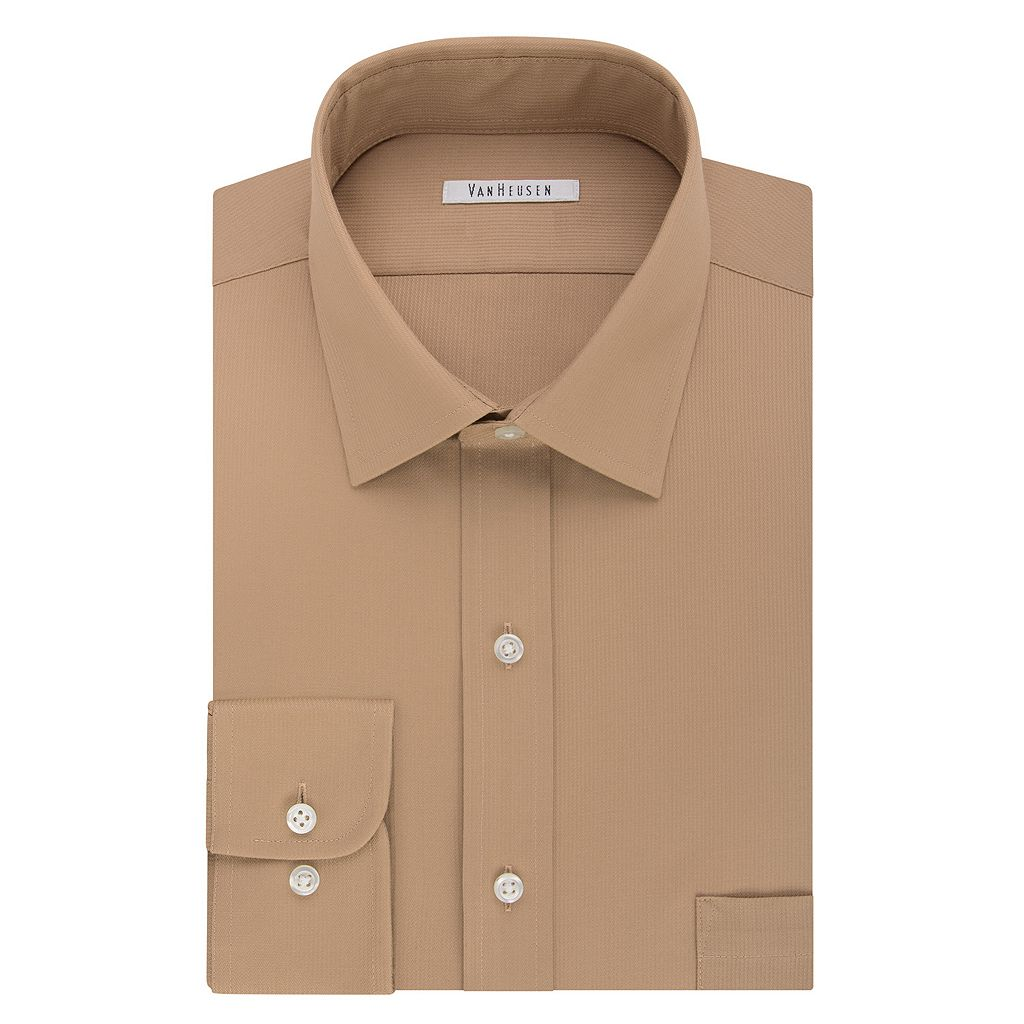 Big & Tall Van Heusen Regular-Fit Flex Collar Pincord Wrinkle-Free Dress Shirt