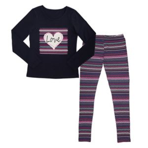 Girls 7-16 French Toast Long Sleeve Graphic Tee & Coordinating Leggings Set