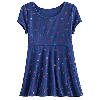 Girls 7-16 & Plus Size SO® Patterned Swing Legging Tee