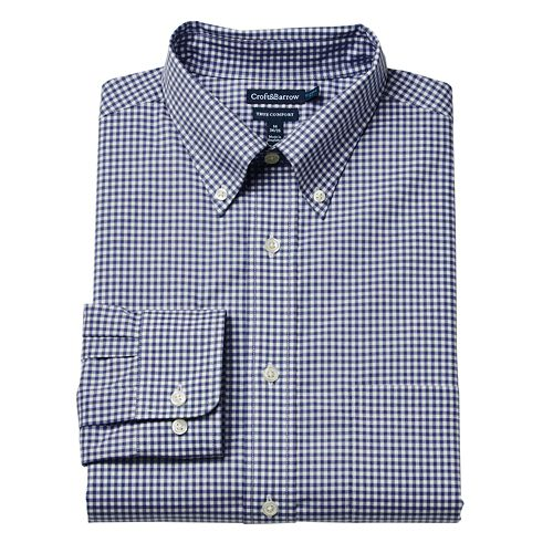 c8b5aba5d Men's Croft & Barrow® True Comfort Fitted Oxford Stretch Dress Shirt