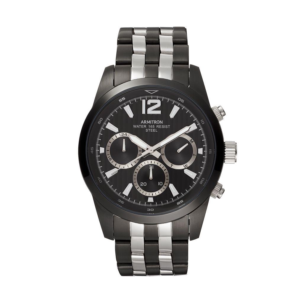 Armitron Men's Two Tone Stainless Steel Watch - 20/4991BKTB