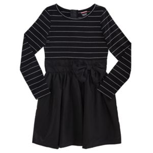 Girls Plus Size French Toast Lurex Striped Knee-Length Dress