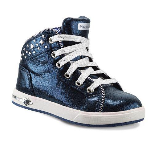 Skechers Shoutouts Zipsters Toddler Girls' High-Top Sneakers