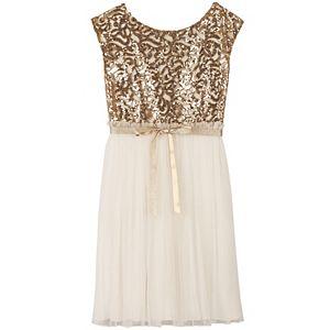 Girls 7-16 Speechless Embellished Sequin Body Dress