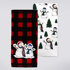St. Nicholas Square® Snowman Kitchen Towel 2-pk.