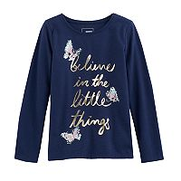 Girls 4-12 SONOMA Goods for Life™ Embellished Long-Sleeve Knit Tee