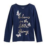 Girls 4-12 SONOMA Goods for Life™ Embellished Long-Sleeve Knit Tee
