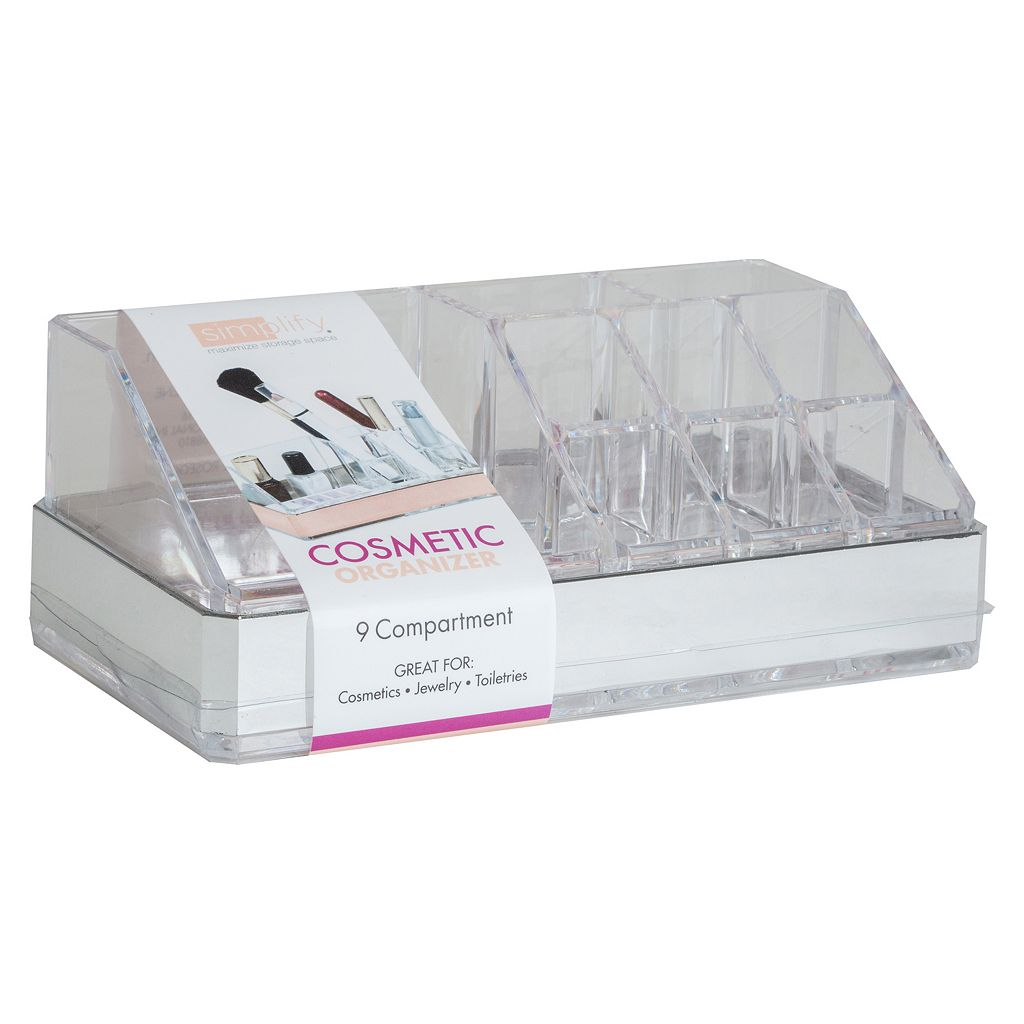 Simplify 9-Compartment Cosmetic & Jewelry Holder