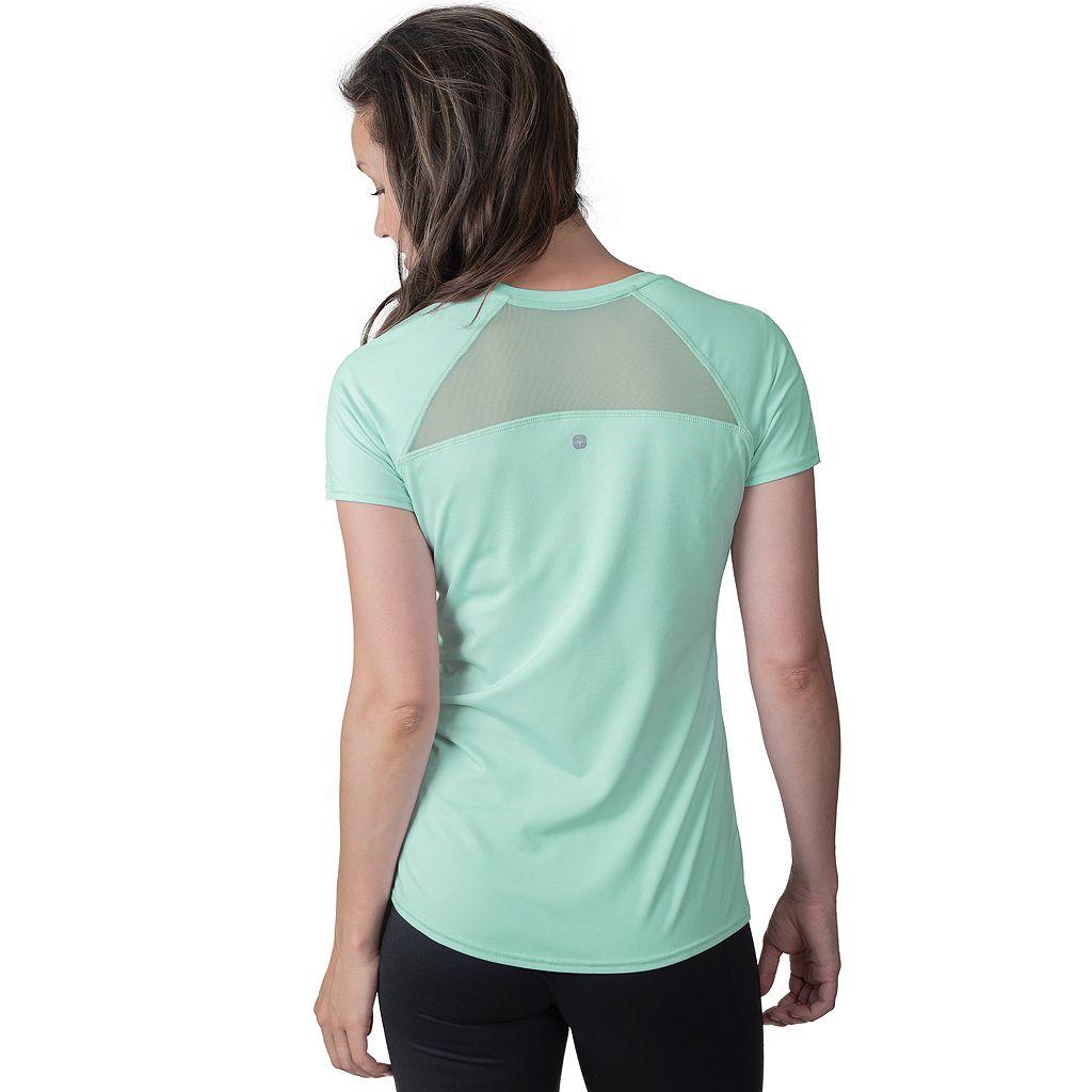 Women's Soybu Endurance Peek-A-Boo Racerback Short Sleeve Tee
