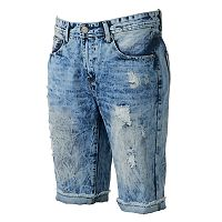 Men's XRAY Slim-Fit Distressed Stretch Denim Shorts