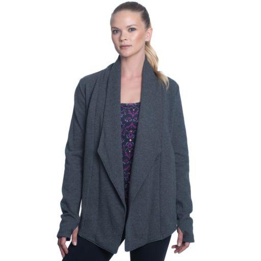 Women's Gaiam Calm Yoga Wrap Cardigan
