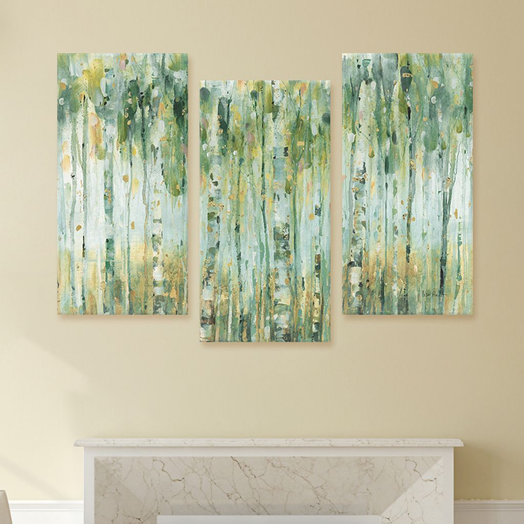Artissimo Designs The Forest I Canvas Wall Art 3-piece Set