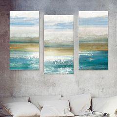 Artissimo Designs Beyond Dawn Canvas Wall Art 3 pc Set