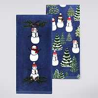St. Nicholas Square® Snowman Wishes Kitchen Towel 2-pk.
