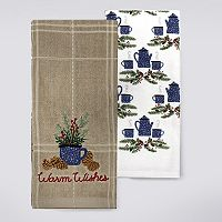 St. Nicholas Square® Warm Wishes Kitchen Towel 2-pk.