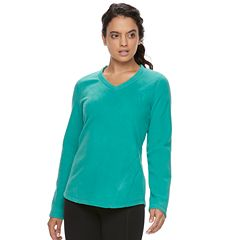 Women's Tek Gear® Microfleece V-neck Tee