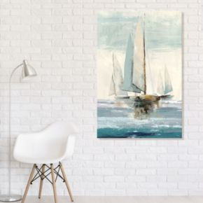 Artissimo Designs Quiet Boats I Canvas Wall Art